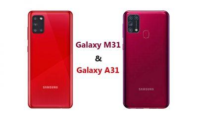 مقایسه گوشی سامسونگ M31 و سامسونگ A31