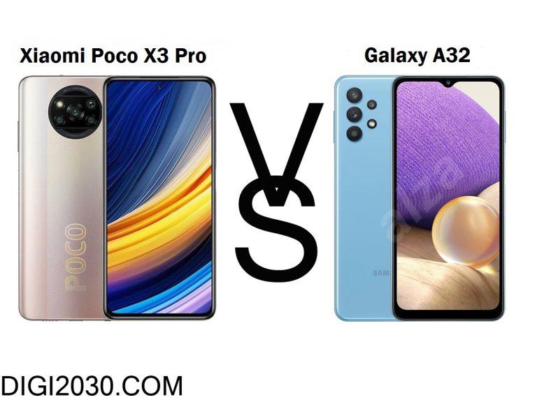 مقایسه گوشی A32 با پوکو ایکس3 پرو : شاخ به شاخ جذاب
