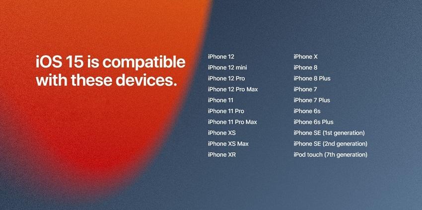 بروزرسانی iOS 15 با iPadOS 15