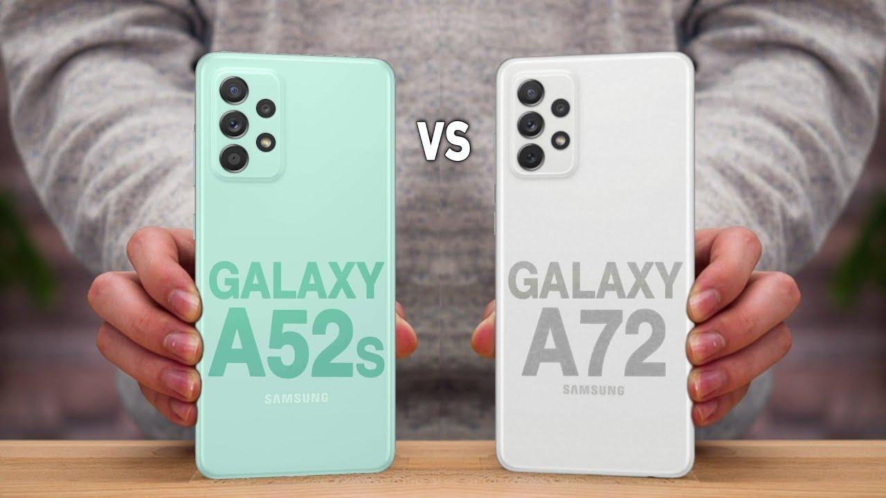 مقایسه دوربین GALAXY A72 با GALAXY A52s